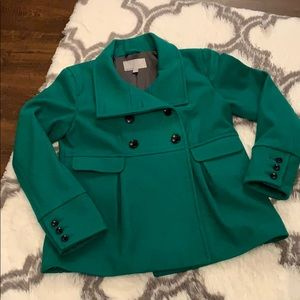 Gorgeous green Pea Coat 🧥with matching gloves 🧤